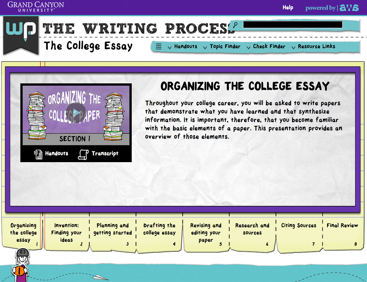 the writing process click to close